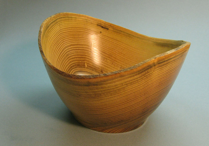 Turned Natural Edge Locust Bowl by Douglas Winslow