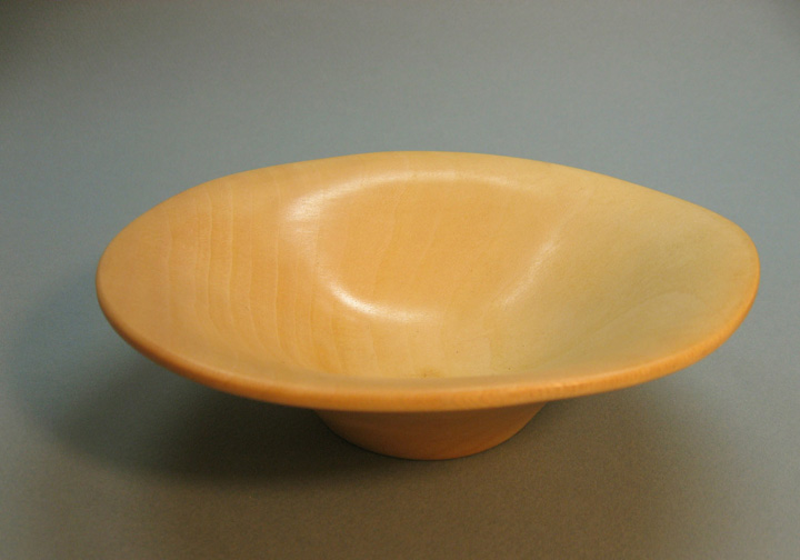 Turned Smooth Edge Sycamore Bowl