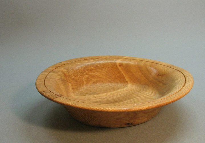 Turned Smooth Edge Oak Bowl