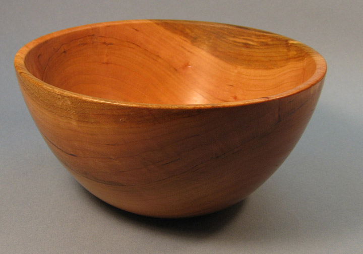 Turned Smooth Edge Cherry Bowl by Douglas Winslow
