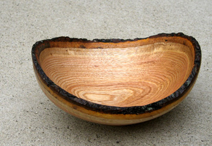 Natural Edge Red Oak Bowl
