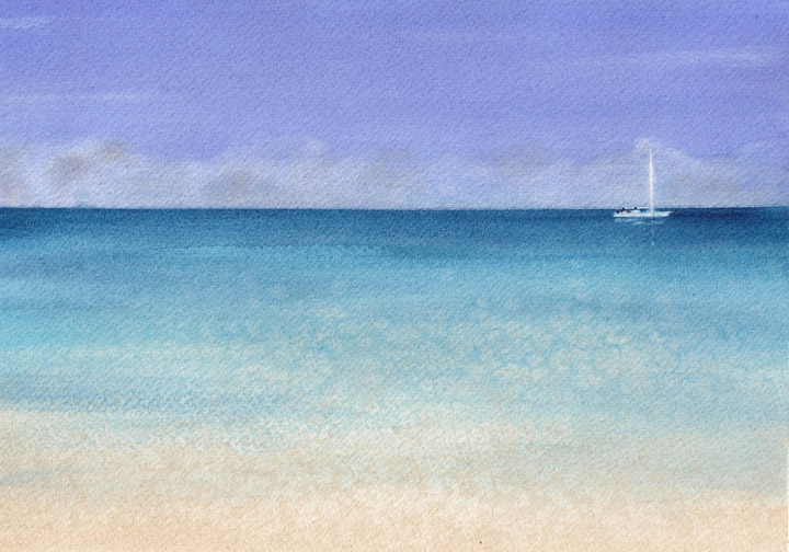 Watercolor Painting of Aruba