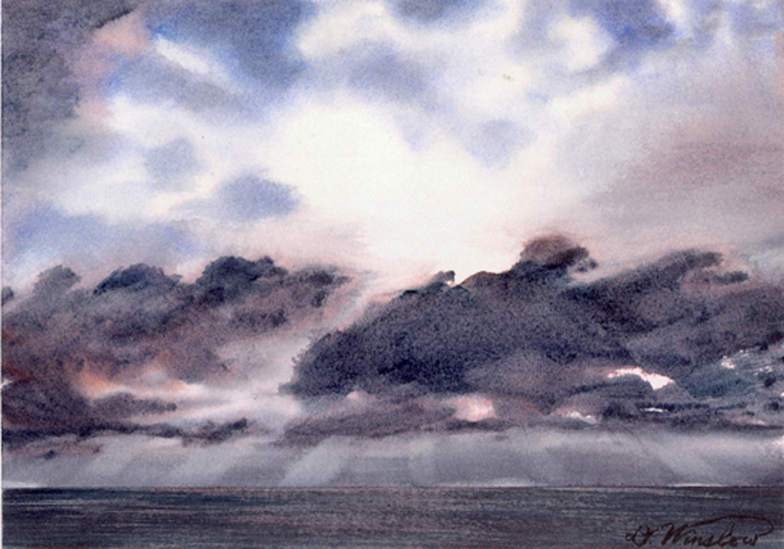 Watercolor Painting of South China Sea Sky